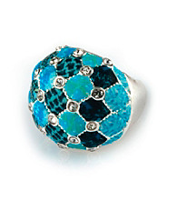 Viva Beads® Blue Brook Crystal Cocktail Bead Ring