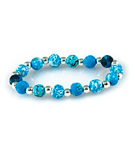 Viva Beads® Blue Brook 8mm Classic Clay Bead Stretch Bracelet