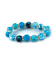 Viva Beads® Blue Brook 12mm Crystal Chunky Stretch Bracelet