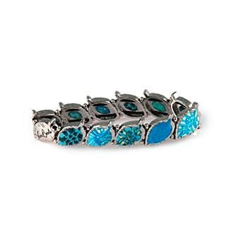 Viva Beads® Blue Brook Pebble Leaf Stretch Bangle