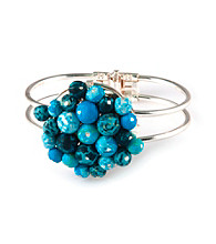 Viva Beads® Blue Brook Flat Cluster Cuff
