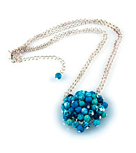 Viva Beads® Blue Brook Flat Cluster Necklace