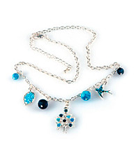 Viva Beads® Blue Brook Charm Necklace