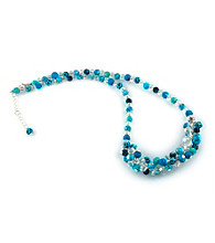 Viva Beads® Blue Brook Crystal Rope Cluster Necklace