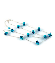 Viva Beads® Blue Brook Cluster Chain Necklace
