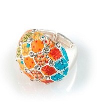 Viva Beads® Pumpkin Spice Crystal Cocktail Bead Ring