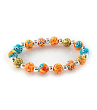Viva Beads® Pumpkin Spice 8mm Classic Clay Bead Stretch Bracelet