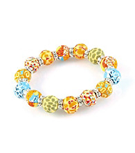 Viva Beads® Pumpkin Spice 12mm Crystal Chunky Stretch Bracelet