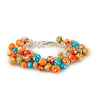 Viva Beads® Pumpkin Spice Beaded Mesh Chain Bracelet
