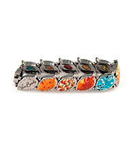 Viva Beads® Pumpkin Spice Pebble Leaf Stretch Bangle