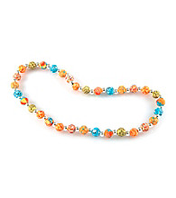 Viva Beads® Pumpkin Spice 8mm Classic Clay Bead Necklace