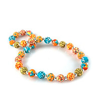 Viva Beads® Pumpkin Spice 12mm Chunky Clay Bead Necklace
