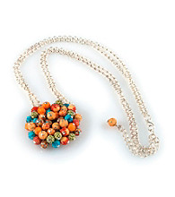 Viva Beads® Pumpkin Spice Flat Cluster Necklace