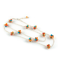 Viva Beads® Pumpkin Spice Cluster Chain Necklace