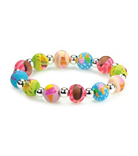 Viva Beads® Diva 10mm Chunky Stretch Bracelet - Ice Cream
