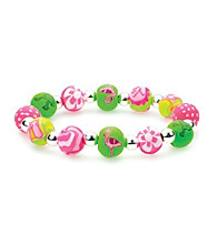 Viva Beads® Diva 10mm Chunky Stretch Bracelet - Flamingo