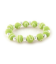 Viva Beads® Diva 10mm Chunky Stretch Bracelet - Tennis Ball