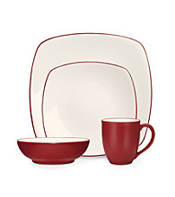 Noritake Colorwave Square Raspberry 4-pc. Place Setting
