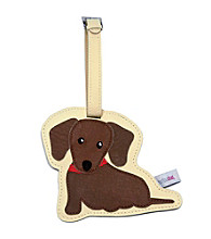 FouFou Dog Love Your Breed Luggage Tag- Dachshund