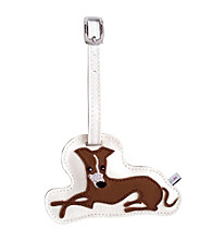 FouFou Dog Love Your Breed Luggage Tag - Greyhound