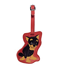 FouFou Dog Love Your Breed Luggage Tag - Miniature Pinscher