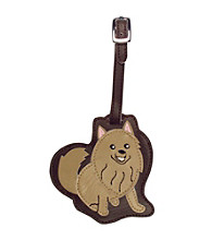 FouFou Dog Love Your Breed Luggage Tag - Pomeranian