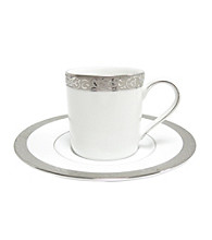 Nikko Platinum Filigree Demitasse Cup & Saucer Set