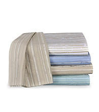 Elite Home Products Reflection Stripe Sheet Set