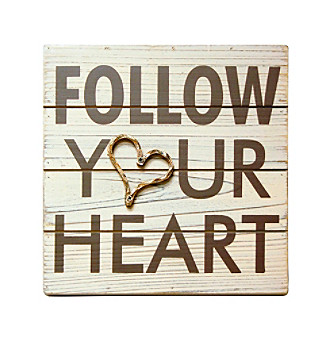 "New View Rustic ""Follow Your Heart"" Wall Plaque"