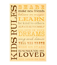 New View Sentiment Plaque - Kids House Rules