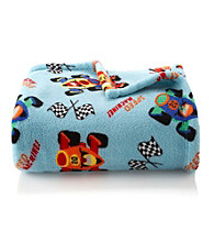 LivingQuarters Kids' Micro Cozy Race Cars Throw