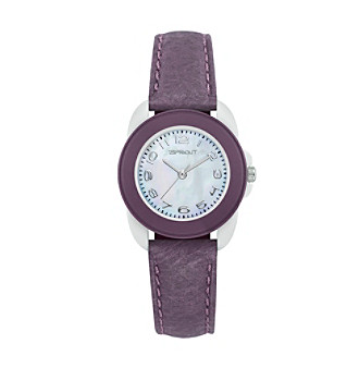 Sprout® Eco-Friendly Mini-Size Tyvek and Mother of Pearl Watch - Purple