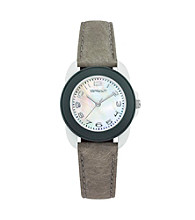 Sprout® Eco-Friendly Mini-Size Tyvek and Mother of Pearl Watch - Grey