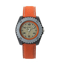 Sprout® Men's Eco-Friendly Cotton and Bamboo Watch - Orange/Gray