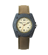 Sprout® Men's Eco-Friendly Cotton and Bamboo Watch - Gray/Olive