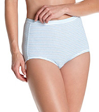 Bali® Fits Your Curves Comfort Briefs - Blue Bell Stripe
