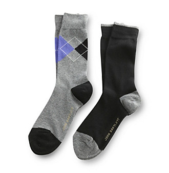John Bartlett Statements Men's 2-Pack Placed Argyle Socks