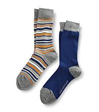 John Bartlett Statements Men's 2-Pack Multi-Striped Socks