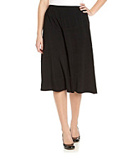 Notations® Plus Size Black Skirt