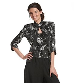 Alex Evenings® Sequin Mandarin Collar Twinset