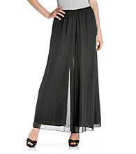 Alex Evenings® Black Chiffon Wide Leg Pant