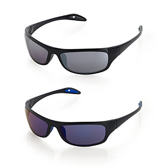 Paradise Collection® Men's Plastic Wrap Sunglasses