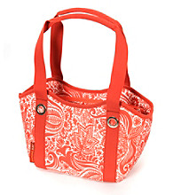 Rachael Ray® Scoop Tote Orange Calypso Print Insulated Lunch Bag