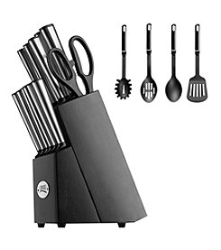 Ginsu® Koden Series 14-pc. Stainless Steel Cutlery Set with 4 Nylon Utensils