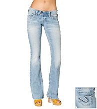 Silver Jeans Co. Tuesday Straight Fit Low-Rise Light Wash Bootcut Jeans
