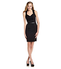 XOXO® Juniors' Black Belted Sheath Dress