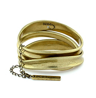 BCBGeneration™ Vintage Brass 3-pc. Bangle Bracelet Set