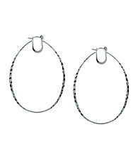 BCBGeneration™ Elongated Hoop Earrings