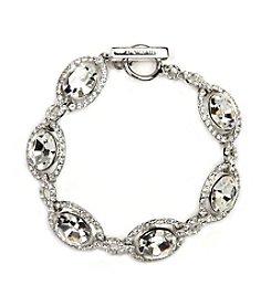 Givenchy® Silvertone Faux Crystal Flex Bracelet