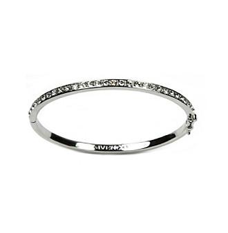 Givenchy® Silvertone Thin Crystal Pave Bracelet